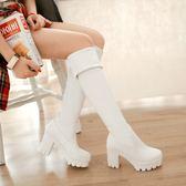過膝長靴高跟靴高筒靴女