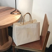2020韓國東大門同款簡約大容量帆布包ins爆款購物包手提包女大包 小明同學
