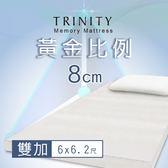 TRINITY 黃金比例床墊 8cm(雙加6尺)【Hongfu Life宏福樂活】