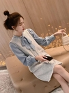洋裝小香風 秋季女氣質法式系帶領結上衣馬甲連衣裙襯衫女潮 莎瓦迪卡