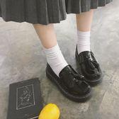 館長推薦☛2018秋季英倫流蘇小皮鞋學生圓頭平底學院風JK制服鞋懶人樂福鞋女