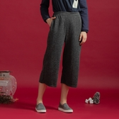 【中大尺碼】MIT仿毛抽針雙袋寬褲