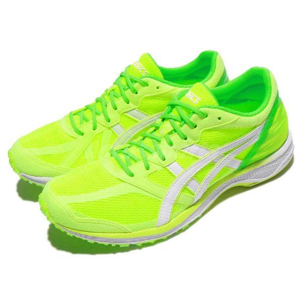 【五折特賣】Asics 慢跑鞋 競速跑鞋 Lady Tartherzeal 5 虎走 綠 螢光綠 運動鞋 女鞋【PUMP306】 TJR8490701