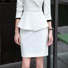 美之札[8S231-PF]高端質感OL基本搭配單色窄裙~OL/上班/面試/會議