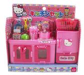 【卡漫城】Hello Kitty 廚房 玩具組 20件 ㊣版 扮家家酒 精緻居家 小 模型 廚具 冰箱 食品 日版