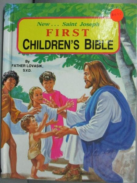 【書寶二手書T2/兒童文學_GTO】First Children's Bible: Popular Bible Stor
