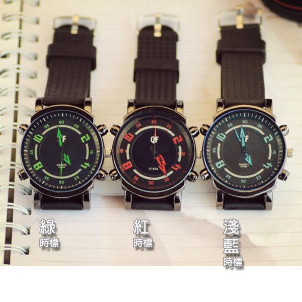 *Watch-123 手錶趣*藍光鏡面箭頭指針運動腕錶(共6色可選)