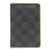 LOUIS VUITTON LV 螢光邊條格紋帆布名片夾 Cardcase N63255 【BRAND OFF】