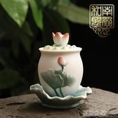供水杯-中式家居佛堂貢杯供佛杯聖水杯陶瓷觀音大悲水彩繪浮雕 夏沫之戀