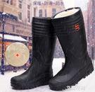 3515強人雨鞋男士冬季保暖加絨雨靴防水...