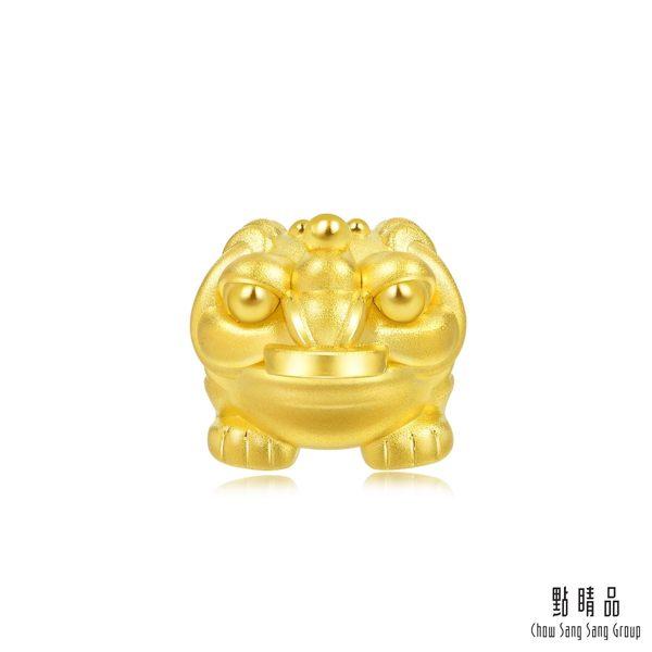 點睛品 Charme文化祝福 招財金蟾蜍 黃金串珠