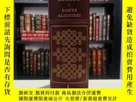 二手書博民逛書店divine罕見comedy 《神曲 》dante 但丁經典 franklin library 1977年 真皮精