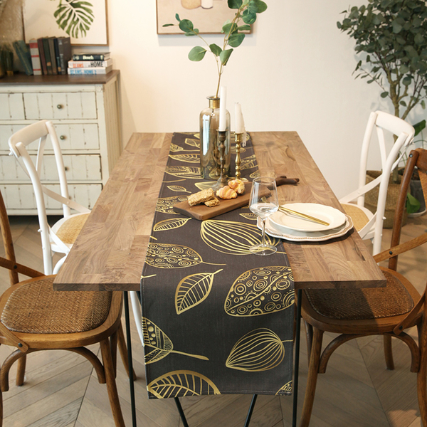 時尚可愛空間餐桌布 茶几布 隔熱墊 鍋墊 杯墊 餐桌巾桌旗703 (35*180cm)