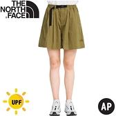 【The North Face 女 休閒短褲AP《卡其》】4UBJ/休閒短褲/戶外短褲