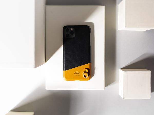 Alto iPhone 11 真皮手機殼背蓋 6.1吋 Anello - 渡鴉黑 皮革保護套