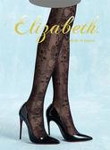 日本製Elizabeth系列變形蟲花紋網襪絲襪E517-011P