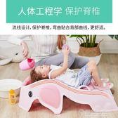 兒童洗頭躺椅小孩洗頭寶寶洗頭床加大可坐躺洗頭椅洗發椅家用折疊   草莓妞妞