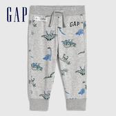 Gap男幼童 Logo童趣印花鬆緊針織褲 619718-恐龍印花