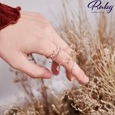 戒指 RCha。韓‧鏤空水鑽雙層指環戒指-Ruby s 露比午茶