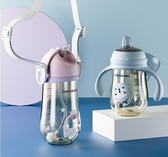 學飲杯寶寶嬰兒水杯兒童鴨嘴吸管兩用帶手柄重力球奶瓶幼兒園促銷好物