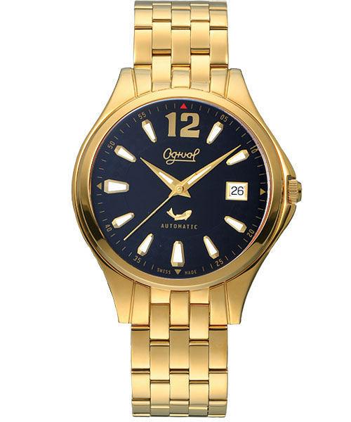 Ogival 愛其華 經典時刻自動上鍊機械腕錶-黑面/金 829-24AGK黑