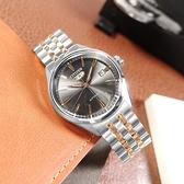CITIZEN 星辰表 / NH8394-70H / 經典復刻 C7 機械錶 自動上鍊 不鏽鋼手錶 鐵灰x鍍玫瑰金 40mm