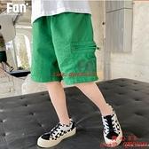 男童休閑短褲夏季外穿兒童薄款運動五分褲速干褲【齊心88】