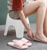 換鞋椅 塑料靠背凳子客廳懶人換鞋椅矮凳創意家用兒童小板凳加厚可愛方凳 DF 維多