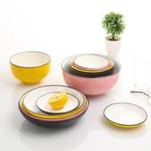 碗筷套裝 碗碟套裝家用陶瓷北歐情侶簡約日式碗筷盤子組合餐具吃飯碗【免運】