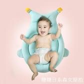 嬰兒浴兜 嬰兒洗澡神器可坐躺防滑海綿懸浮墊浴盆架網兜通用新生兒寶寶浴床