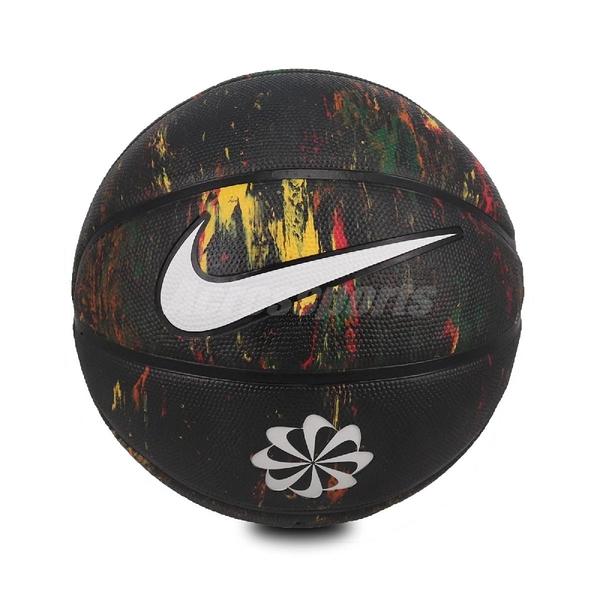 Nike 籃球 Revival Dominate 8P 黑 銀 7號球 室內外 橡膠 潑墨風格 【ACS】 N100247797-307