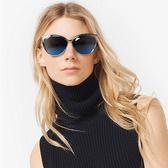 MICHAEL KORS 水銀太陽眼鏡 MK1020 116755 (銀) 奢華簍空貓眼款 藍水銀款 # 金橘眼鏡