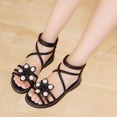 公主鞋女童涼鞋新款韓版兒童女羅馬涼鞋中大童涼鞋女孩公主鞋子 童趣潮品
