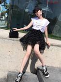雪紡蛋糕裙半身短裙A字蓬蓬裙子