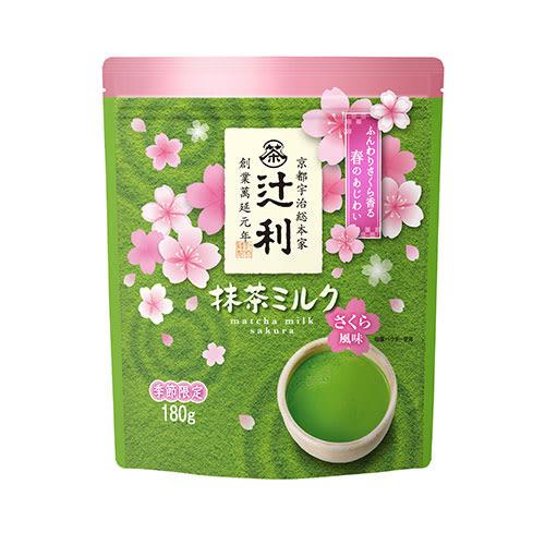 《TSUJIRI》抹茶拿鐵粉(櫻花風味)180g【愛買】