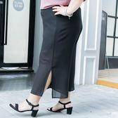 【雙11折300】大碼女裝大腿粗的女生褲子雪紡闊腿褲03768