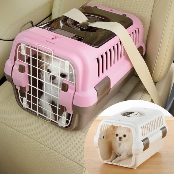 *WANG*日本Richell利其爾運輸籠《雙開式提籠犬貓用》新色3色 (S號)