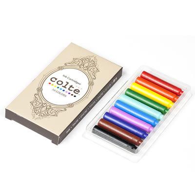 日本colte 鋼筆+卡式墨水10色組