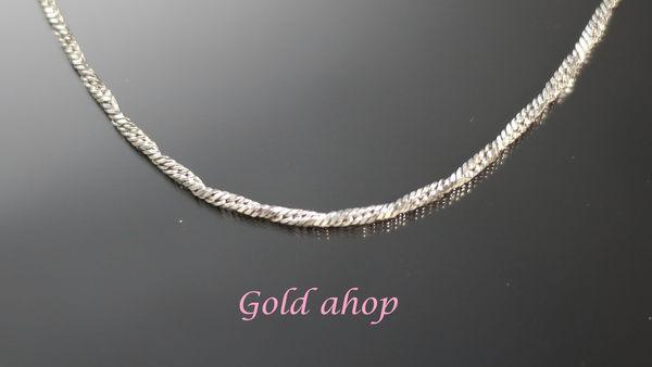 ╭☆ gold shop ☆╯義大利 585 白K金 項鍊 長度40公分 [ kn 062 ]-1.18