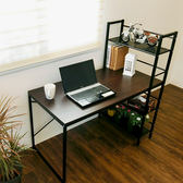 辦公桌 電腦桌 書桌【DCA017】樂活雙向層架式多功能120*60加大桌面工作桌 Amos MIT