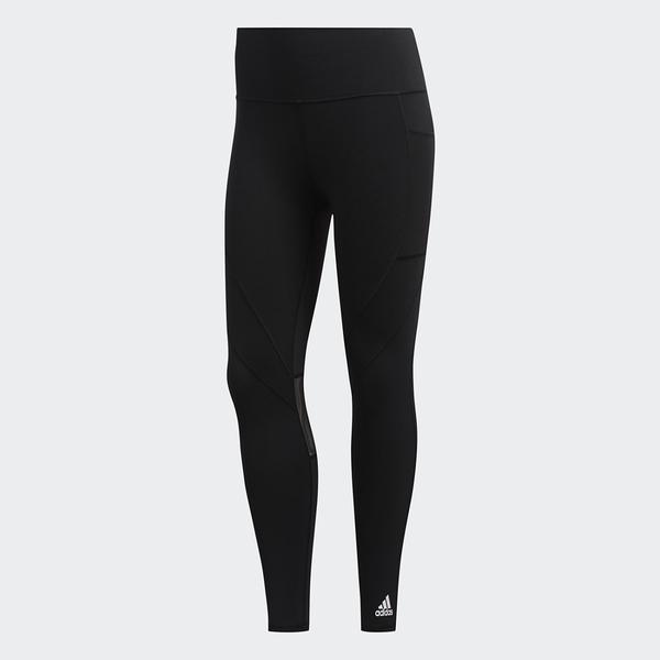 Adidas COMMUTER 女裝 長褲 緊身 慢跑 訓練 網布側邊口袋 拼接透視網布 抗臭 黑【運動世界】GC7683