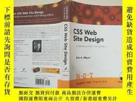 二手書博民逛書店【罕見】 CSS Web Site Design Hands o