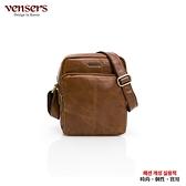 【vensers】小牛皮潮流個性肩背包(NE066801黃油皮)