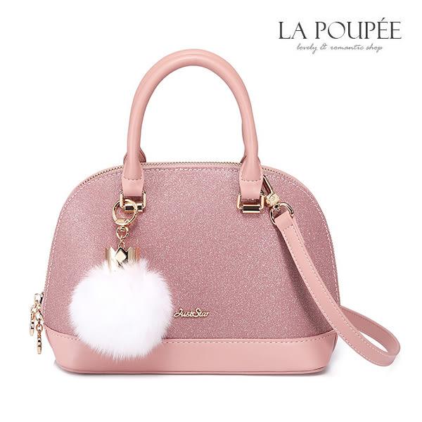 手提包 甜美璀燦皇冠毛球貝殼包 -La Poupee樂芙比質感包飾 (預購+好禮)