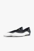 ALL BLACK 氣質尖頭平底鞋  (黑白色)