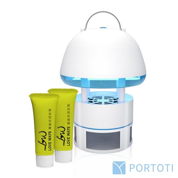 PORTOTI 波特堤 吸入式捕蚊燈(PR-25MB)1入【小三美日】附贈誘蚊劑10mlx2 霖威保固