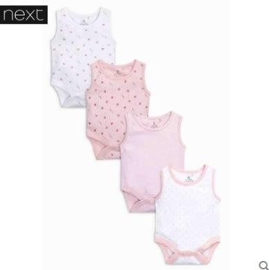 [NEXT] 代購英國NEXT童裝嬰兒春新生兒四件裝粉色包屁衣