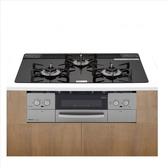 (含標準安裝)林內【RB71W23L1R5-TR_LPG】嵌入式三口防漏爐+小烤箱(LiSSe黑)爐連烤瓦斯爐