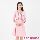 【RED HOUSE 蕾赫斯】假兩件洋裝...