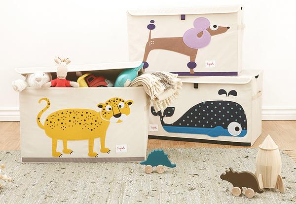 加拿大 3 Sprouts 收納箱 多款任選 台灣授權代理商正品 童趣動物設計 附手把方便拿取 不用時可折疊